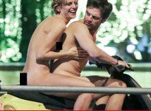 La estrella de los Vengadores Sebastian Stan lleva un paseo de scooter desnudo durante el rodaje