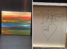 Swizz Beatz subastando la pintura para recaudar fondos para los niños necesitados