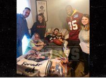 Regalos de Vernon Davis Entrevista del Super Bowl para la familia después de la muerte de Boy