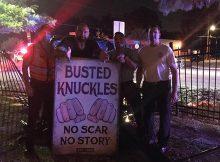 Dave Bautista elogia a policías después de que el coche aplasta su puerta de gimnasio