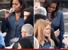Michelle Obama en la travesía de la cena de París durante el fuego de la catedral de Notre Dame